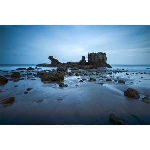 Marea baja en Playa El Tunco